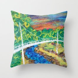 Liberty Bridge 2018 Throw Pillow