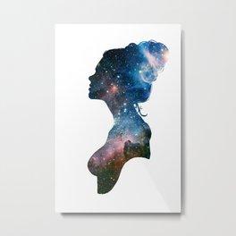 Galactic Girl Metal Print