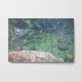 Over the edge / Green water Metal Print