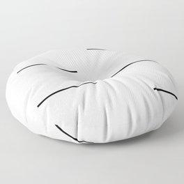 Mudcloth white black dashes Floor Pillow
