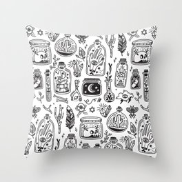 The Tiny Witch Gallery Throw Pillow