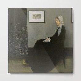 James Whistler's Arrangement in Grey and Black No. 1 Metal Print