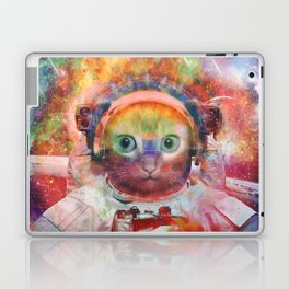Psychedelic Trippy Cat Astronaut Laptop & iPad Skin