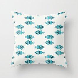 sibling fish geometric water print Throw Pillow