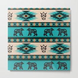 American Native Pattern No. 206 Metal Print