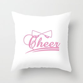 "Cheerleading Tee Perfect Gift For Cheerleaders ""Cheer"" T-shirt Design Shout Rhythm Move Mentor Music Throw Pillow"
