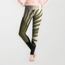 Tropical Leaf- Abstract Art 5 Leggings