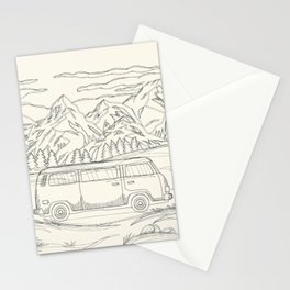 Mountain Road Linescape Stationery Cards