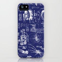 Da Vinci's Sketchbook // Dark Blue iPhone Case