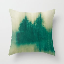 Winter Tree Abstract Throw Pillow
