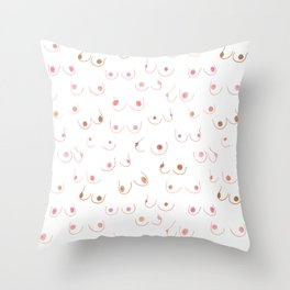 Breasts In Pairs All Colors & Shapes Throw Pillow