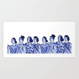 We Got You Girl Art Print