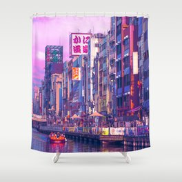 Osaka Citypop Shower Curtain