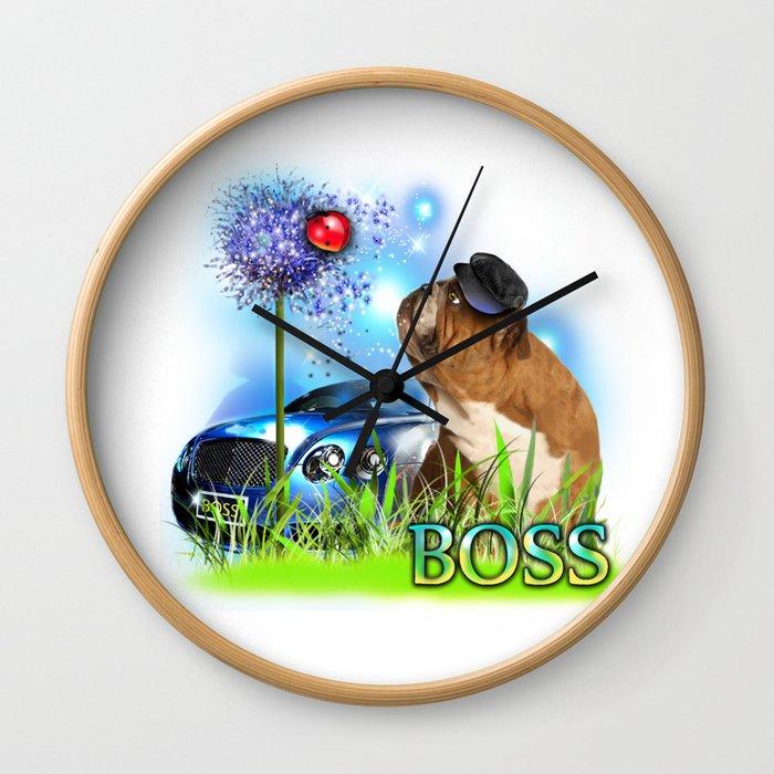 Unique Digital Design ''Boss'' Wall Clock