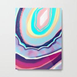 Colorful agate Metal Print