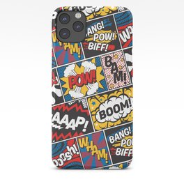 Modern Comic Book Superhero Pattern Color Colour Cartoon Lichtenstein Pop Art iPhone Case