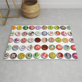 Vintage Soda Pop Bottle Caps Rug
