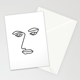 Not Amused Face Funny Line Art Stationery Cards