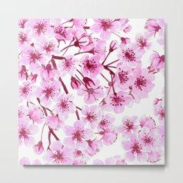 Cherry blossom pattern Metal Print