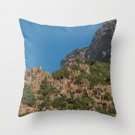 Rock Canyon Provo Utah View Landscape Mountain Photography Throw Pillow