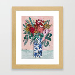 Australian Native Bouquet of Flowers after Matisse Gerahmter Kunstdruck