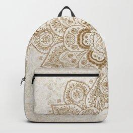 Mandala Temptation in Cream Backpack