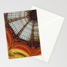 Stained glass roof of the Lafayette Galleries in Paris Stationery Cards
