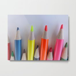Colored Pencil Tips Metal Print