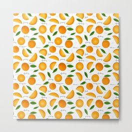 Orange Juice Metal Print