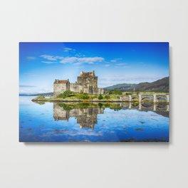Eilean Donan Castle Reflections 2 Metal Print
