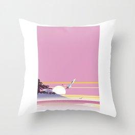 Seagull of morning glow Throw Pillow