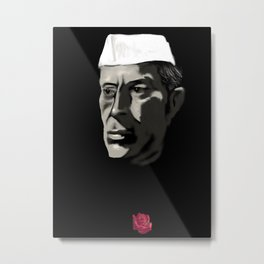 26 - Nehru & his Rose Metal Print