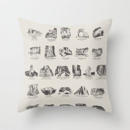 National Parks Alphabet Throw Pillow
