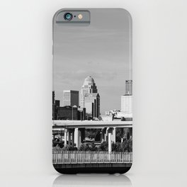Downtown Louisville - Black and White iPhone Case