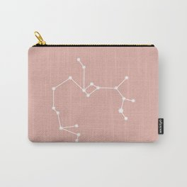 Sagittarius Zodiac Constellation - Pink Rose Carry-All Pouch