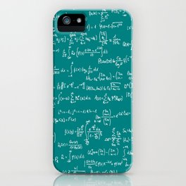 Math Equations // Teal iPhone Case