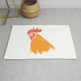 Rooster Cock Head Feather Chicken Bird Gift Rug