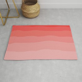 Red Strawberries and Cream Ombre Rug