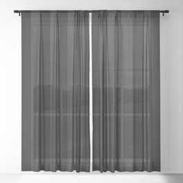 Goth'd Damask Stripe Sheer Curtain