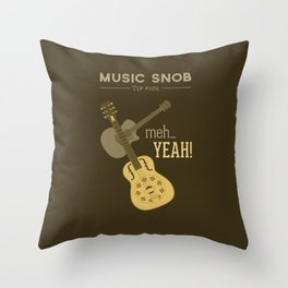 Yeah or Meh: The Acoustic Guitar — Music Snob Tip #102 Throw Pillow