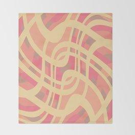 Wavy summer stripe Throw Blanket