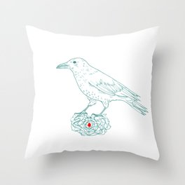 The keeper (crow) Throw Pillow