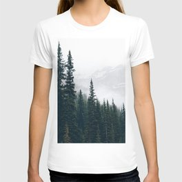 Evergreens in the fog T-shirt