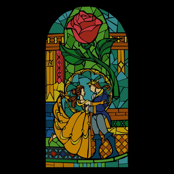 Beauty and The Beast - Stained Glass Comforters