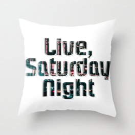 Live, Saturday Night Throw Pillow