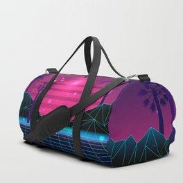 80's Flashback Synthwave Duffle Bag