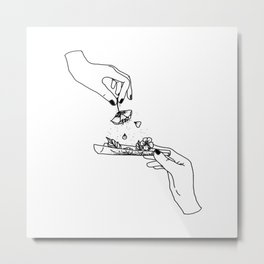How to roll up your sadness? Metal Print