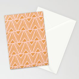 mala, african tribal pattern tangerine Stationery Cards