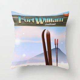 Fort William Scotland Throw Pillow