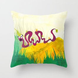 Tufted Slink (Bewundering World of Bewilderbeests) Throw Pillow